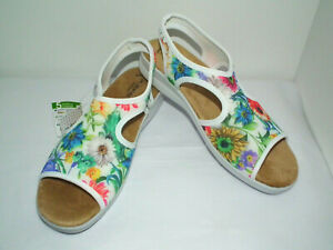 Flexus by Spring Step Womens WHITE Nayaman-Bouquet 9.5 to 10 (US) Sandals NWT
