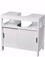 Under Sink Bathroom Cabinet Storage with Sliding Doors and Shelf for Toiletries