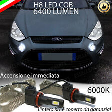 KIT FULL LED FORD S-MAX LAMPADE H8 FENDINEBBIA CANBUS 6400 LUMEN 6000K