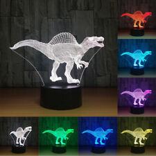 Dinosaur 3D Night Light Table Desk Lamp 7 Colors 3D Optical Illusion Lights