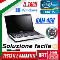 """PC NOTEBOOK PORTATILE DELL STUDIO 15 (1558) 15"""" CPU i5 RAM 4GB +KEY WIN 10 BUONO"""