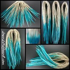"wool dreadlocks ""Turquise Ombre"" 10 pieces"