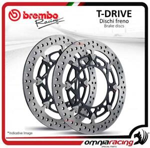 Pair of front brake discs Brembo T Drive 320mm for Ducati Monster 1200 2014>