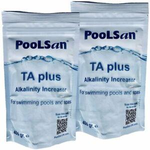 PoolSan TA Plus Alkalinity Increaser 800gr for pools & hot tubs
