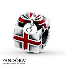 PANDORA Charm Sterling Silver ALE S925 GIFT BOX RED BOW 791086EN27 retired