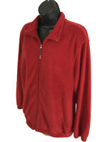 Rebecca Malone Jacket Womens Size L Large Red Full Zip Front Long Sleeve