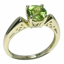Solitaire Yellow Gold Natural Routinely Enhanced Fine Rings