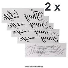 """2 x Schriftzug """"Thug Life"""" als Tattoo - Gangster Leben - Gangster Tattoo"""