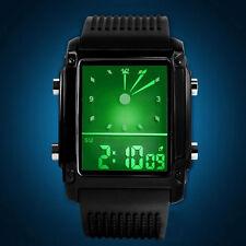 Fashion Men's Outerdoor Sports LED Light Analog Digital Dual Display Wrist Watch