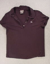 Lacoste CLASSIC SOLID Silver Series Preppy Polo Shirt (Women's Small) Black