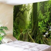 Nature Forest Print Tapestry Wall Hanging Tapestry Home Room Dec Bedspread Throw