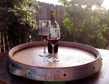 Wine Barrel Lazy Susan Handmade