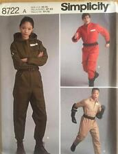 Simplicity Pattern 8722 Flight Coveralls Jumpsuit Costume Unisex Size XS-XL New