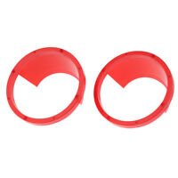 1 Pair 6.5 Inch Speaker Rings Car Boat Audio Mounting Spacers Forms Red
