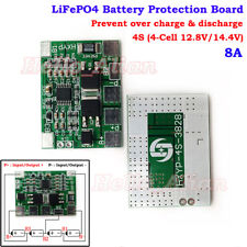 4S 4-Cells 8A 12.8V 14.4V LiFePO4 Battery Pack BMS Circuit Protection PCB Board