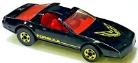HOT WHEELS 80's FORMULA FIREBIRD BLACK Made In Hong Kong 1/64 Scale Diecast Used