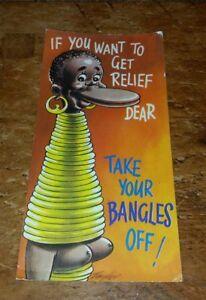 Vintage  Bamforth Slim Comic Postcard - TAKE YOUR BANGLES OUT - EARINGS.