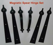 Magnetic Carriage House Garage Door Decorative Hardware Hinges SPADE1 Kit Faux