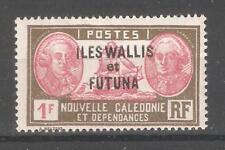Wallis & Futuna 1930,Overprinted,1fr,Scott # 67,VF MLH*OG (K-8)