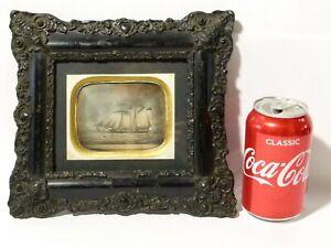 Antique City of Rotterdam Capt W. Branch Sailing Ship Photograph Framed