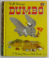 Vintage Children's Little Golden Book ~ DUMBO ~ Disney Mickey Mouse Club