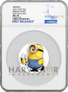 2021 MINION COIN SERIES - MINION STUART - NGC MS70 FIRST RELEASES - FIRST IN SET