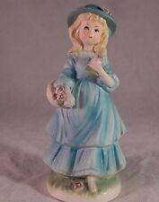 Vintage Avon Girl Flowers Figurine Japan 1973