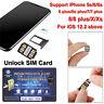 Heicard Unlock SIM Card Turbo ICCID Nano SIM for iPhone Xs X 8 7 6s 6 + iOS 12.2