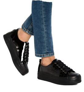 *Neu Calvin Klein Plateau Sneaker Zolah schwarz lack 38*