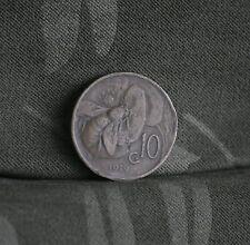 10 Centesimi 1919 Italy Copper World Coin ten cents Honey Bee Bumble RARE Date