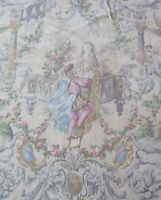 "French Antique ""Romeo & Juliette"" Printed Cotton Toile Fabric c1870-80~32""LX31""W"