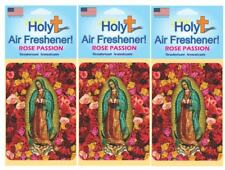 Holy Lady of Guadalupe Novelty Air Freshener Rose Passion Scented 3 Pack
