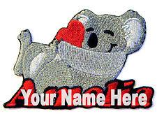 Koala Custom Iron-on Patch With Name Personalized Free
