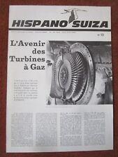 REVUE HISPANO-SUIZA 13 TURBINE A GAZ THM MIRAGE III V-01 TYNE ENGRENAGE METEO