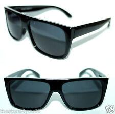 Polarized Men's Flat top FlatTop Sunglasses Super Black Frame Retro Style 664