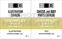 1953-1979 Corvette Master Parts Catalog Illustrated Chevrolet Part Book Manual