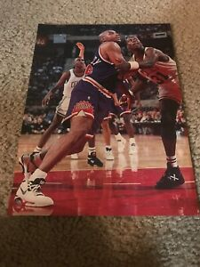 Vintage 1992 NIKE AIR FORCE 180 BARKEY Shoes Poster Print Ad 90s CHARLES BARKLEY