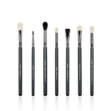 Jessup 7pcs Pro Black Makeup Brushes set Blending Eyeshadow Cosmetics brushes