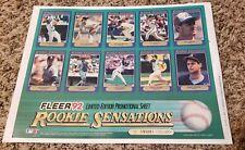 1992 Fleer Rookie Sensations Promo Sheet Baseball - LIMITED EDITION 2