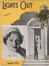 Lights Out, Kate Smith photo, 1935, vintage sheet music