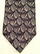 """J. GARCIA MENS TIE GRAY AND BRONZE SCALED ATTERN  57"""" X 3.75"""""""