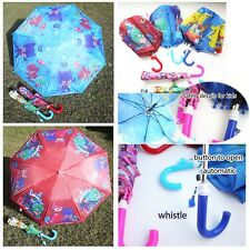 PJ Masks foldable Umbrella with Whistle automatic open kids boys girls gift AU