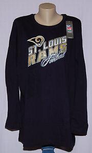 St. Louis Rams Womens Plus Size Jazzed Up II Long Sleeve T-Shirt Plus Size 2X