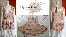 "TUNIQUE DE SUPERPOSITION ""MYRINE&ME"" EN MAILLE CROCHET T.L OU 42/44 NEUVE&ETIQ."