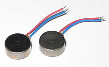2 X Vibrator Flat Micro Motor - 3 VDC - 8mm Dia - Cellphones Beepers Vibrators