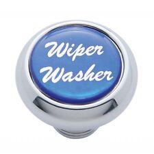 deluxe knob wiper washer blue glossy sticker for Peterbilt Kenworth Freightliner