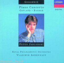Gershwin: Piano Concerto; Copland, Barber/Peter Jablonski-Cd