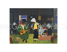 BEARDEN ROMARE - EVENING OF THE GRAY CAT, 1982