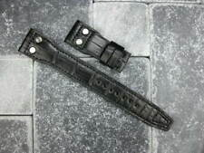 Black Genuine Alligator Skin Leather Rivet Strap Watch Band IWC BIG PILOT