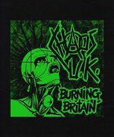 BACK PATCH FAUX LEATHER PUNK vegan discharge poison idea subhumans chaos uk